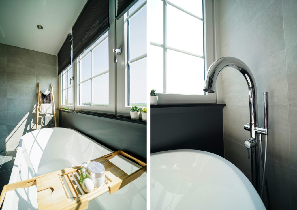 ontwerp badkamer, landelijke badkamer, badkamerontwerp, geeridee badkamer, badkamer in 3D, 3D badkamer