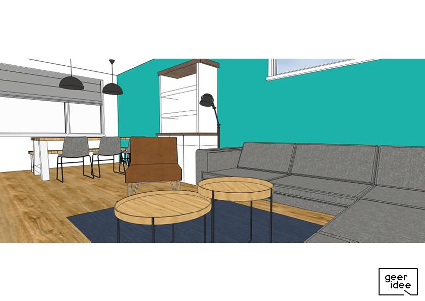 interieurontwerp hoekhuis, hoekhuis ontwerp, 3d interieurontwerp, 3d ontwerp, 3d woning, 3d tekening woning, 3d tekening hoekhuis
