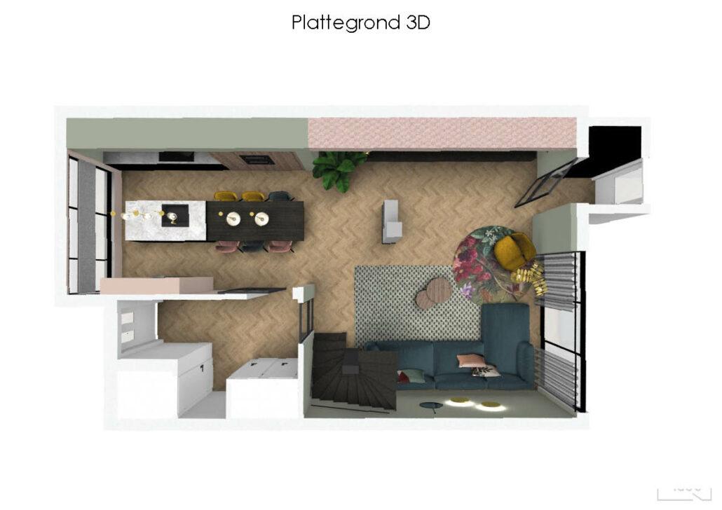 familiehuis met kleur geeridee
